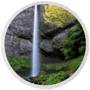 Latourell Water Fall Oregon Dsc05430 Round Beach Towel