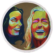 Laughter Round Beach Towel