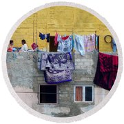 Laundry In Guanajuato Round Beach Towel