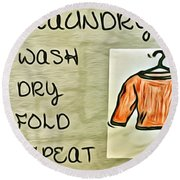 Laundry Room Round Beach Towel