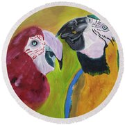 Language Of Love Round Beach Towel by Meryl Goudey