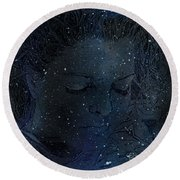 Eat At Judys Laura Palmer Carrie Page Nebula Round Beach Towel