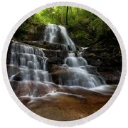 Laurel Falls Great Smoky Mountains Tennessee Round Beach Towel