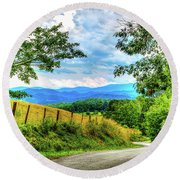 Laurel Hill View Round Beach Towel by Dale R Carlson
