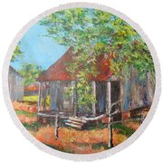 Laurel Valley Round Beach Towel