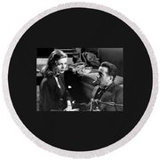 Lauren Bacall Humphrey Bogart Film Noir Classic The Big Sleep 1 1945-2015 Round Beach Towel
