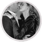 Lauren Bacall Humphrey Bogart To Have And Have Not 1944 Round Beach Towel