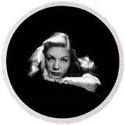 Lauren Bacall Publicity Photo Circa 1945-2015 Round Beach Towel