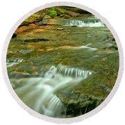Laurl Highlands Waterfall Gorge Round Beach Towel