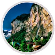 Lauterbrunnen Round Beach Towel