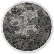 Round Beach Towel featuring the photograph Lava Flow by M G Whittingham