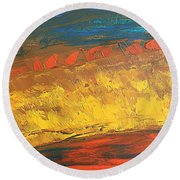 Lava Flow Round Beach Towel