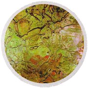 Lava Glass Round Beach Towel