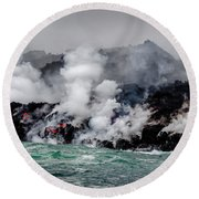 Lava Shelf Round Beach Towel