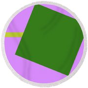 Lavender And Complement Round Beach Towel