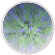 Lavender At The Speed Of Light Round Beach Towel