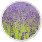 Lavender Fantasy Round Beach Towel