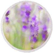 Lavender Fields Forever Round Beach Towel