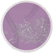 Round Beach Towel featuring the photograph Lavender Floral by Ellen Barron O'Reilly