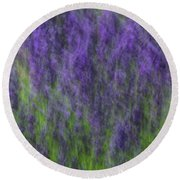 Round Beach Towel featuring the photograph Lavender In The Wind by Rachel Cohen