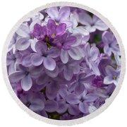 Lavender Lilacs Round Beach Towel