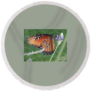 Lavender Lunch Round Beach Towel