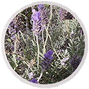 Lavender Moment Round Beach Towel