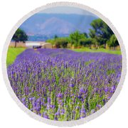 Lavender Round Beach Towel by Peter Tellone