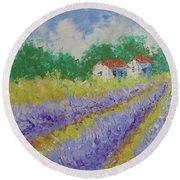 Lavender Provence Round Beach Towel