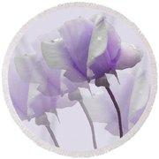 Lavender Roses  Round Beach Towel by Rosalie Scanlon