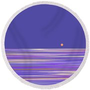 Lavender Sea Round Beach Towel by Val Arie