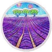 Lavender Round Beach Towel by Viktor Lazarev