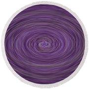 Lavender Vortex Round Beach Towel