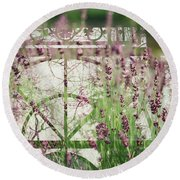 Lavender Whisper Round Beach Towel