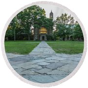 Law Quad 1 University Of Michigan Round Beach Towel