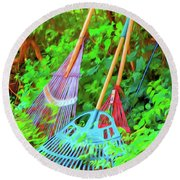 Lawn Tools Round Beach Towel