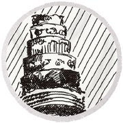 Layer Cake 1 2015 - Aceo Round Beach Towel