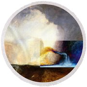 Layered 1 Turner Round Beach Towel by David Bridburg