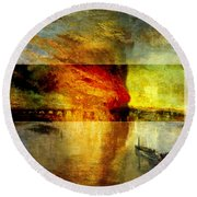 Layered 12 Turner Round Beach Towel by David Bridburg