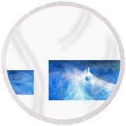 Layered 21 Turner Round Beach Towel by David Bridburg