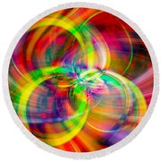 Round Beach Towel featuring the photograph Layered Swirls by Cathy Donohoue