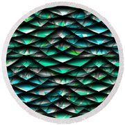 Layers Abstract Round Beach Towel