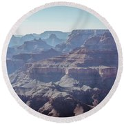 Round Beach Towel featuring the photograph Layers For Infinity by Margaret Pitcher