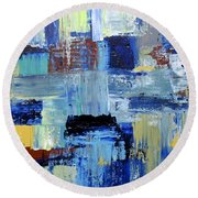 Layers Of Color Round Beach Towel