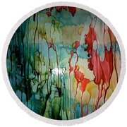Layers Of Life Round Beach Towel