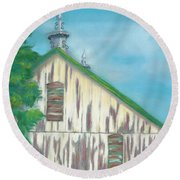 Layers Of Years Gone By Round Beach Towel