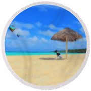 Lazy Afternoon Round Beach Towel