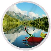 Round Beach Towel featuring the digital art Lazy Days by Nathan Wright