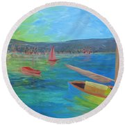 Lazy Summer Round Beach Towel
