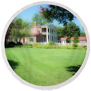 Lazy Summer Day - The Hermitage Round Beach Towel